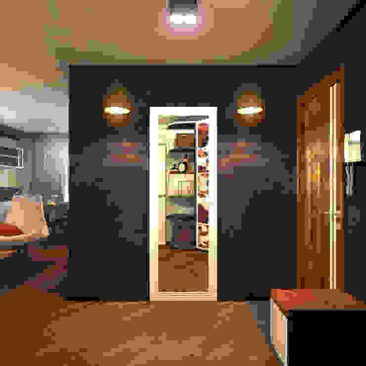 Прихожая 3 Коридор, прихожая и лестница в скандинавском стиле от Inna Katyrina & 'A-LITTLE-GREEN' studio interiors Скандинавский