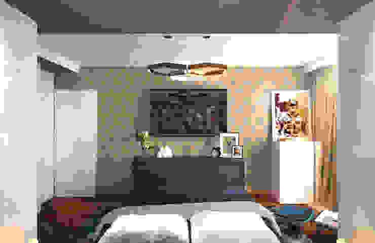 Спальня 3 Спальня в скандинавском стиле от Inna Katyrina & 'A-LITTLE-GREEN' studio interiors Скандинавский