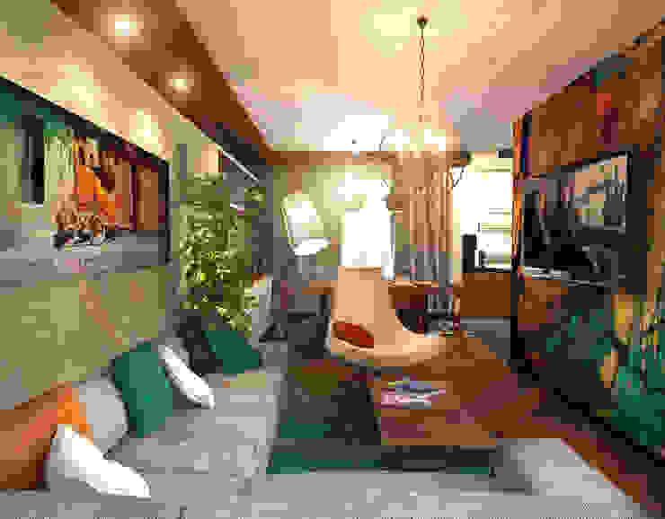 Гостиная 1 Гостиная в скандинавском стиле от Inna Katyrina & 'A-LITTLE-GREEN' studio interiors Скандинавский