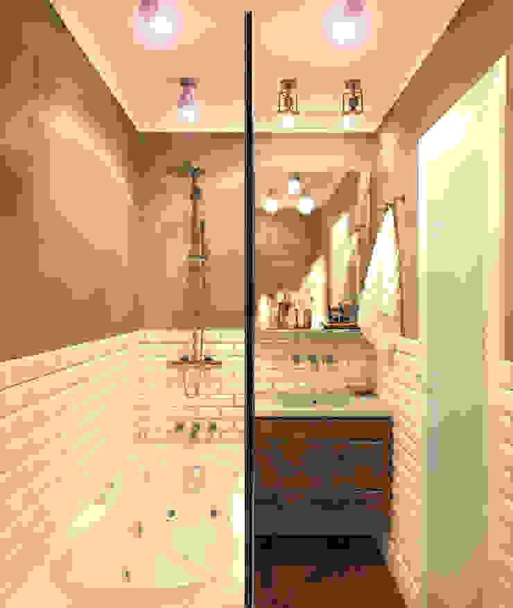 Ванная 4 Ванная комната в рустикальном стиле от Inna Katyrina & 'A-LITTLE-GREEN' studio interiors Рустикальный