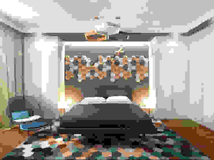 Спальня 1 Спальня в скандинавском стиле от Inna Katyrina & 'A-LITTLE-GREEN' studio interiors Скандинавский