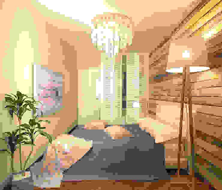 Гостевая спальня 2 Спальня в средиземноморском стиле от Inna Katyrina & 'A-LITTLE-GREEN' studio interiors Средиземноморский