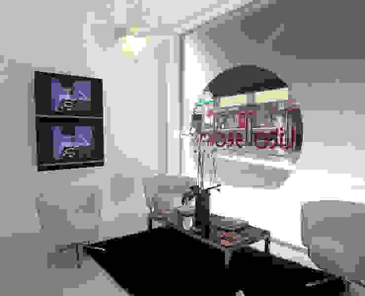 Peluquería Lito Seoane Espacios comerciales de estilo moderno de Oito Interiores Moderno