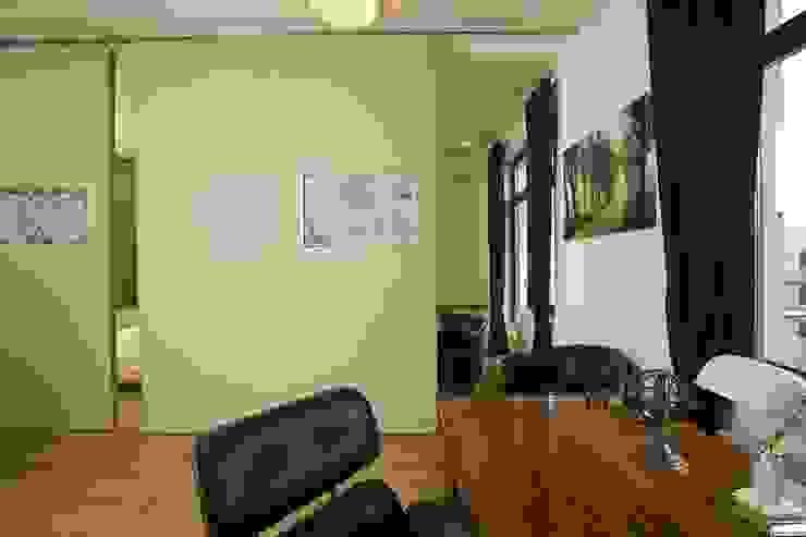 Квартира на Крестовском острове в Санкт-Петербурге Рабочий кабинет в стиле минимализм от Архитектурное бюро 'Sky-lines' Минимализм