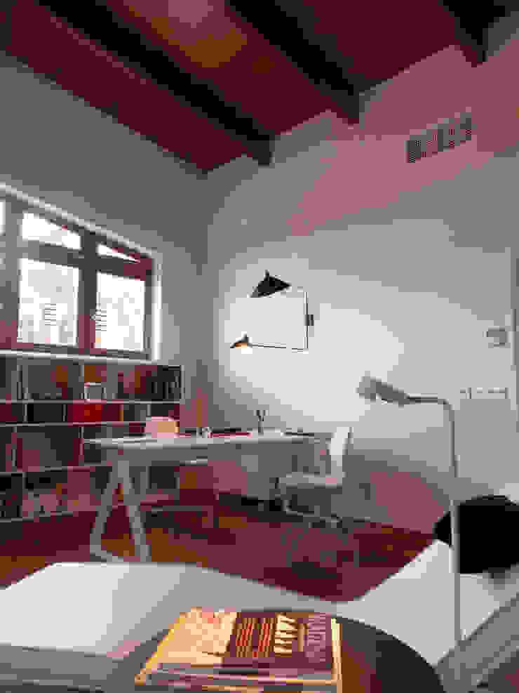 Vivienda unifamiliar, Ourense, Galicia. Estudios y despachos de estilo moderno de Oito Interiores Moderno
