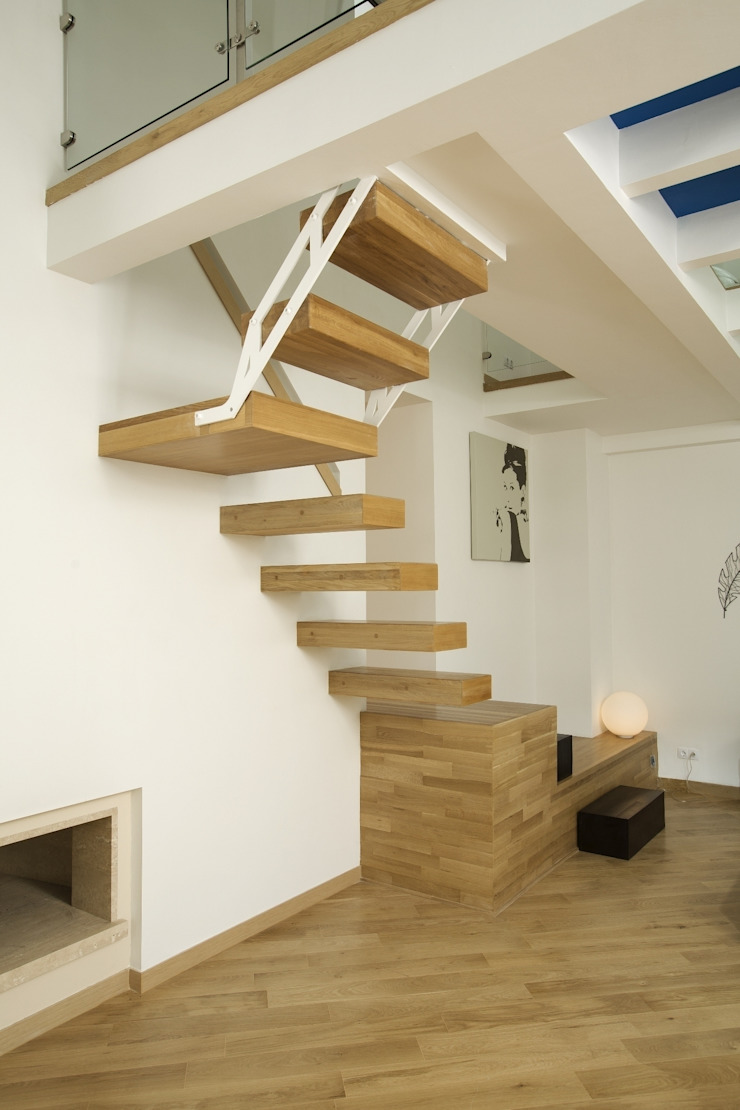 Квартира на Крестовском острове в Санкт-Петербурге Коридор, прихожая и лестница в стиле минимализм от Архитектурное бюро 'Sky-lines' Минимализм