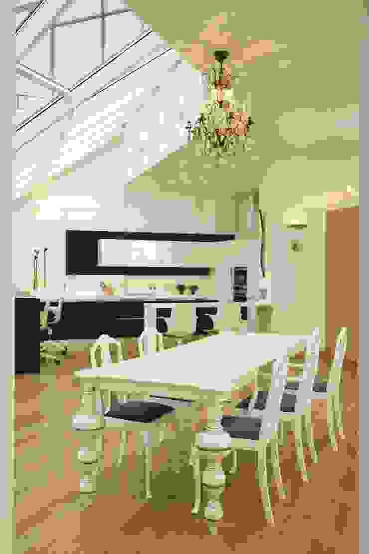 Квартира на Крестовском острове в Санкт-Петербурге Кухня в стиле минимализм от Архитектурное бюро 'Sky-lines' Минимализм