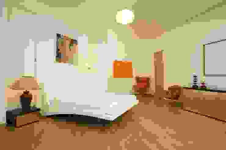 Квартира на Крестовском острове в Санкт-Петербурге Спальня в стиле минимализм от Архитектурное бюро 'Sky-lines' Минимализм
