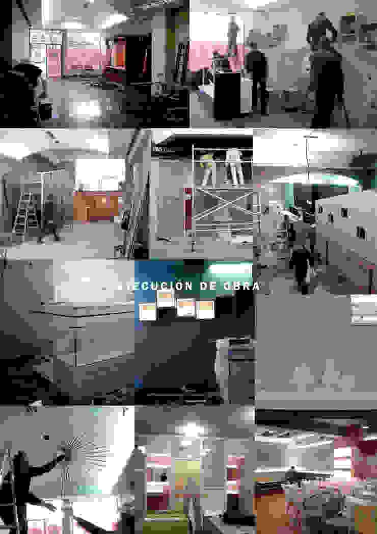 durante la obra Bares y clubs de estilo moderno de interior03 Moderno