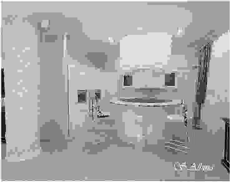 Дизайн -проект квартиры, по улице Касаткина Кухни в эклектичном стиле от студия авторского дизайна Альбины Сибагатулиной Эклектичный
