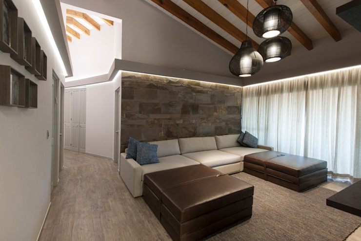 Living room by kababie arquitectos, Rustic