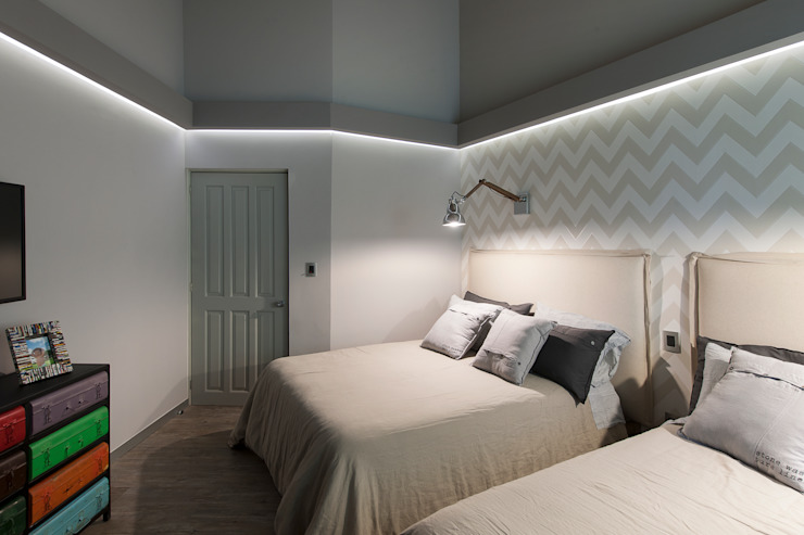 kababie arquitectos Eclectic style bedroom