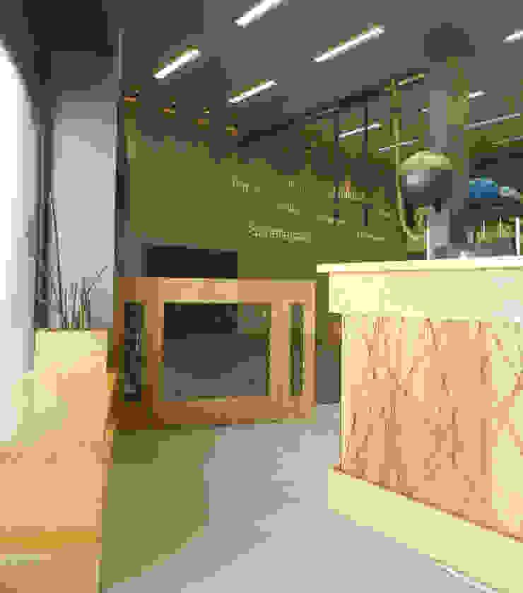 Hall Entrada Espaços comerciais modernos por Monte Arquitetura Moderno