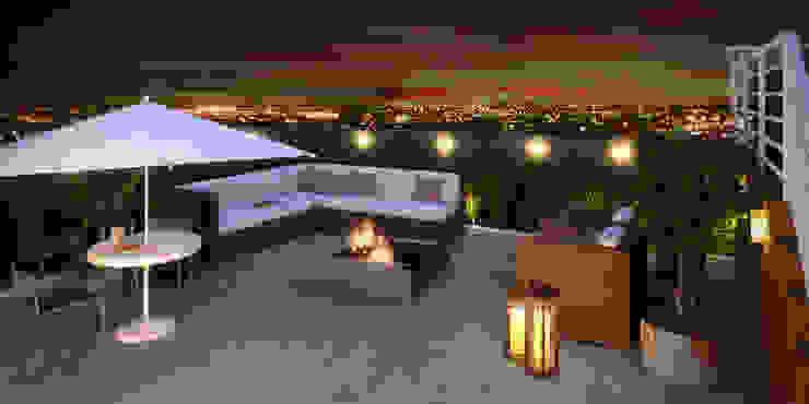Balcones y terrazas de estilo moderno de Monte Arquitetura Moderno