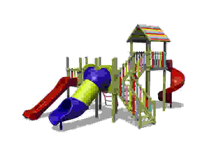 Ahşap oyun Parkı Modern Bahçe Özçınar Tasarım Modern