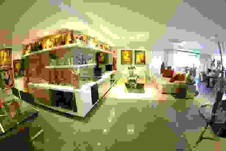 Apartment in Recife, Brazil Salas de estar modernas por André Cavendish e Arquitetos Moderno