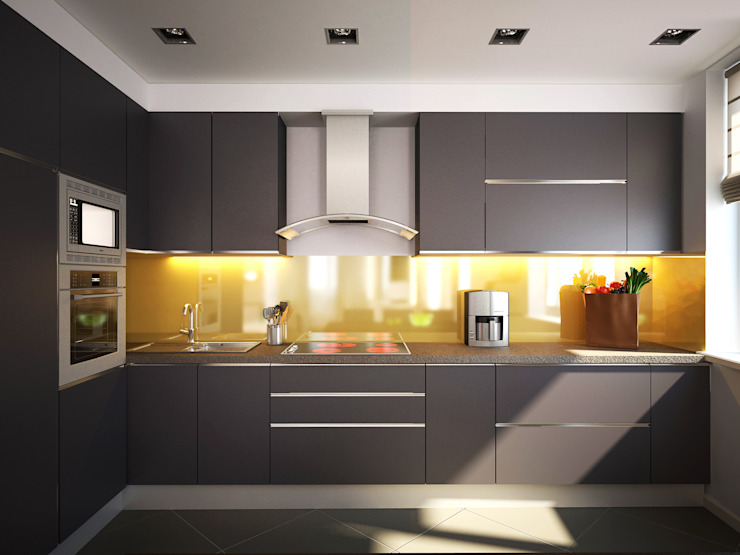 Polovets design studio Minimalist kitchen