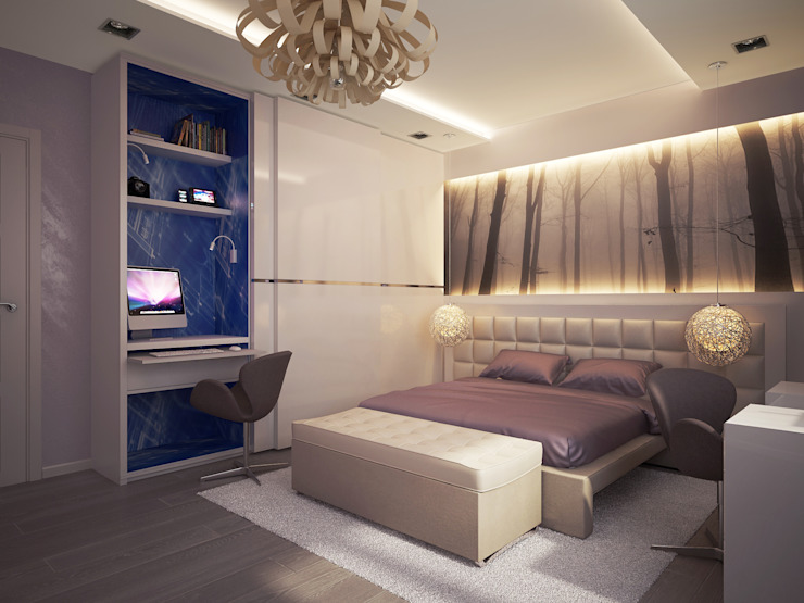 Bedroom by Polovets design studio, Minimalist