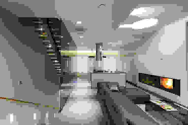 Гостиная. Гостиная в стиле минимализм от (DZ)M Интеллектуальный Дизайн Минимализм
