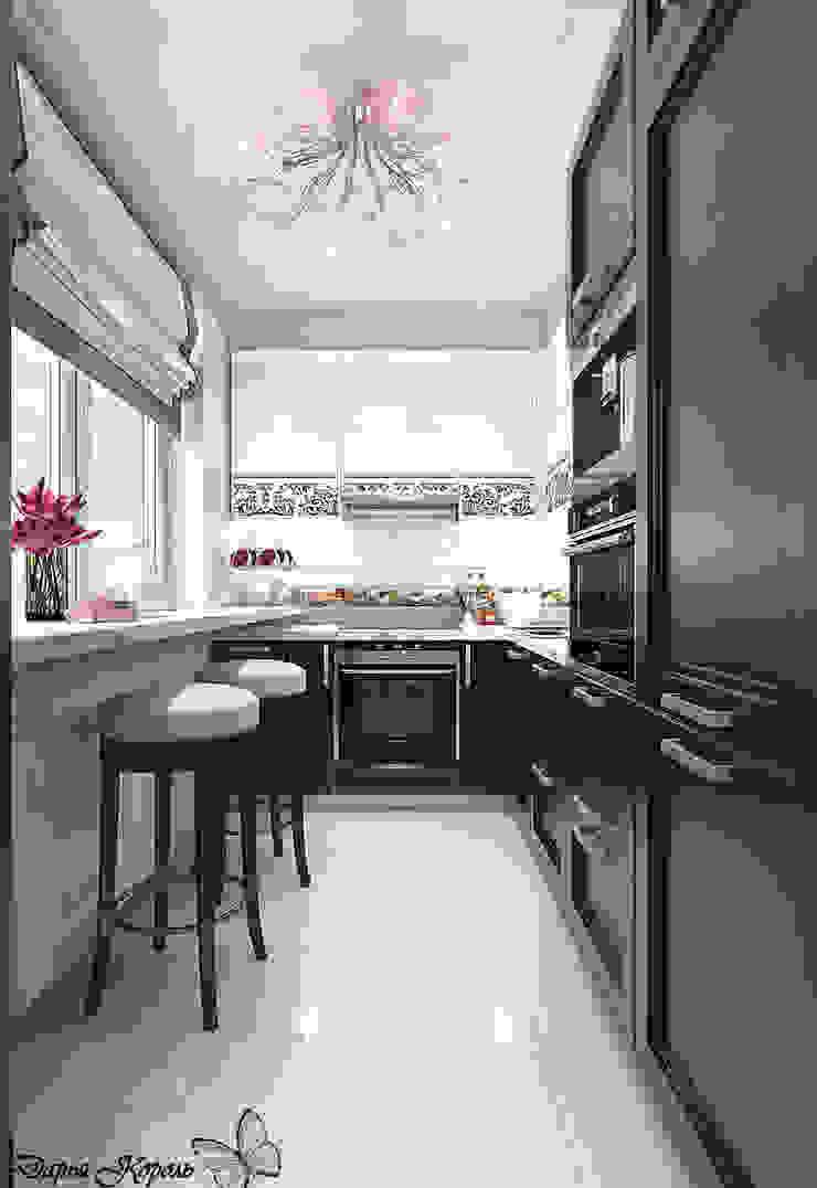 Перепланировка в 3х комнатной панельной чешке Кухни в эклектичном стиле от Your royal design Эклектичный