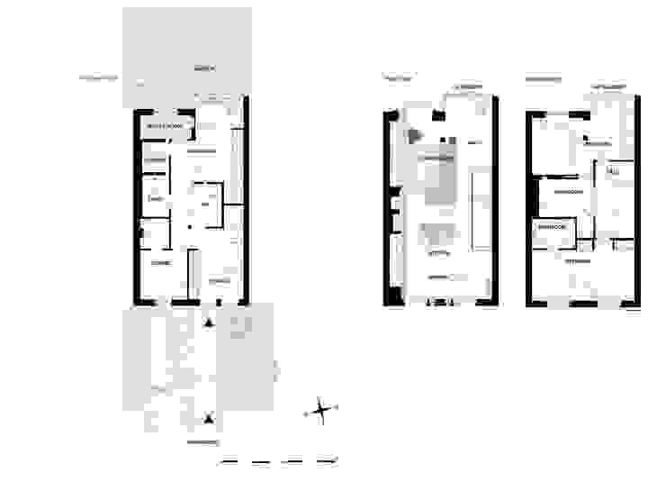 Поэтажные планы таунхауса после реконструкции. от (DZ)M Интеллектуальный Дизайн