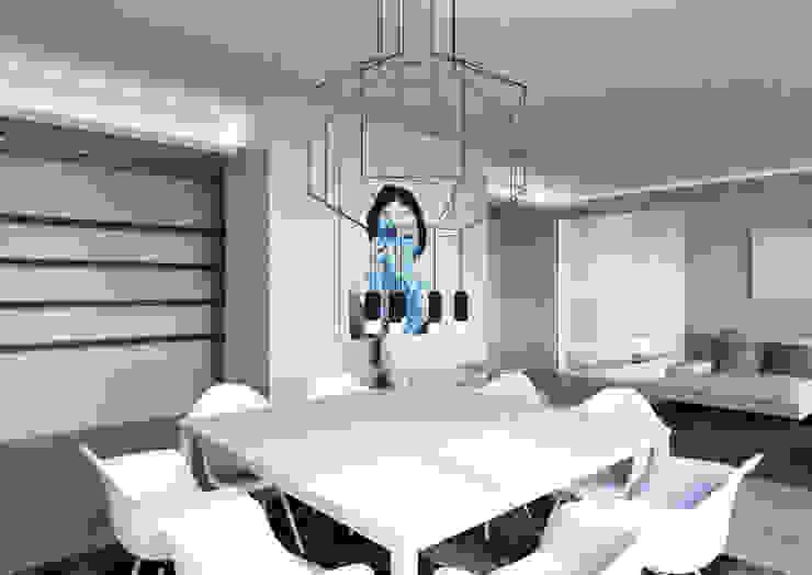 Milano 2 – Residenza Orione Soggiorno moderno di Architetto ANTONIO ZARDONI Moderno