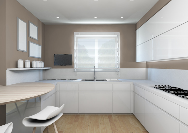 Milano 2 – Residenza Orione Cucina moderna di Architetto ANTONIO ZARDONI Moderno