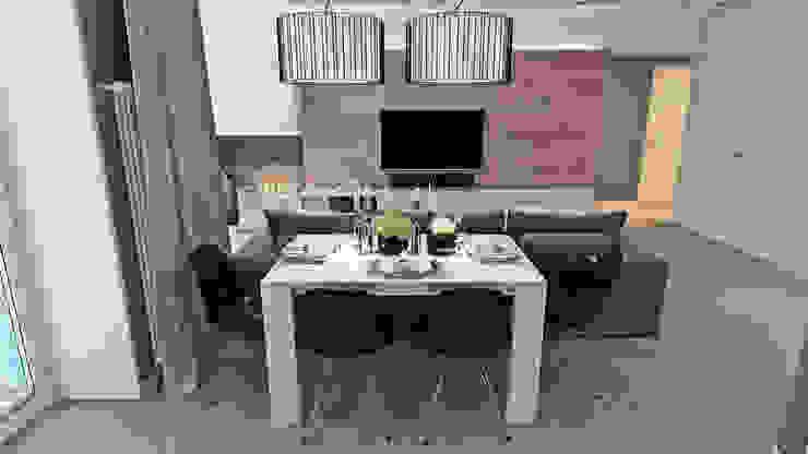 Квартал Декабристов/гостиная Гостиная в стиле минимализм от АРТ УГОЛ Студия архитектуры и дизайна Минимализм