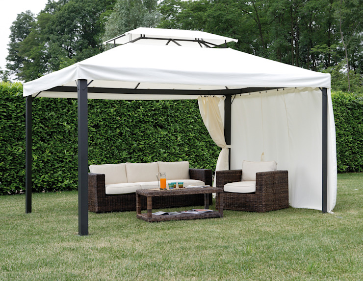 Cenador de jardín rectangular 3 x 4 metros, doble techo de El Jardín de Ana Clásico