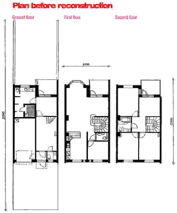 План таунхауса до реконструкции. от (DZ)M Интеллектуальный Дизайн