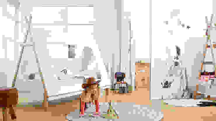 Pokój w stylu indiańskim Skandynawski pokój dziecięcy od Żyrafy z Szafy Skandynawski