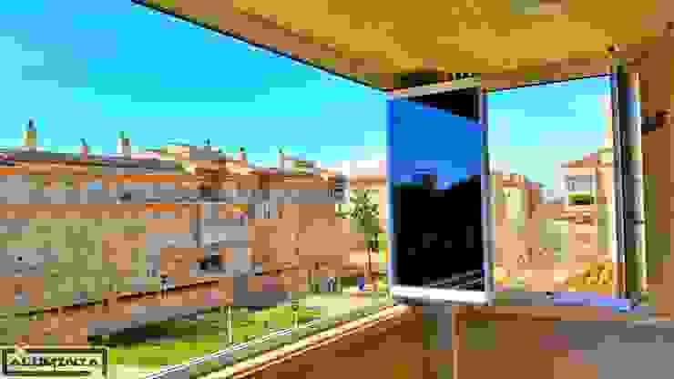 Cortina de cristal con cristal parsol gris Casas de estilo moderno de Aluminia Sistemas y Accesorios S.L. Moderno