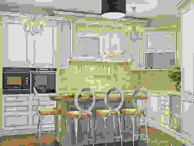 Белое золото Кухня в классическом стиле от Premier Dekor Классический