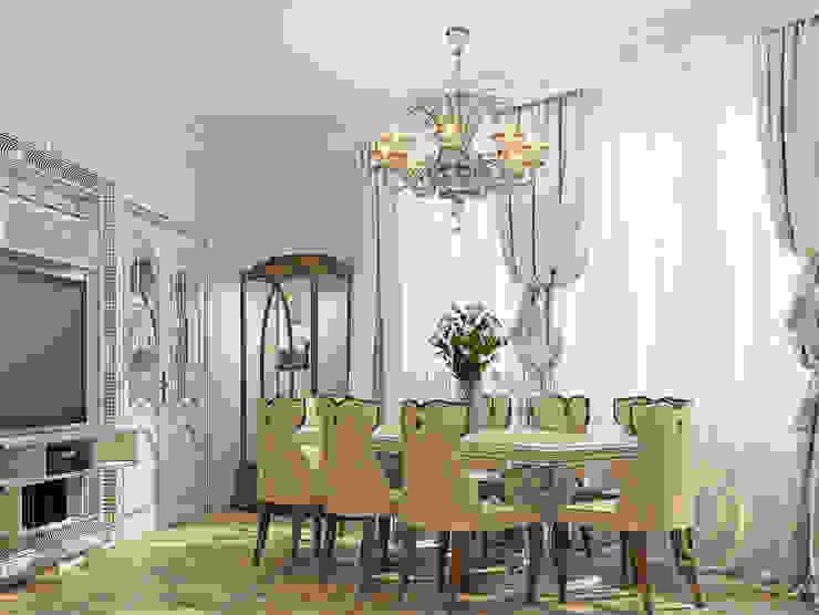 Белое золото Столовая комната в классическом стиле от Premier Dekor Классический