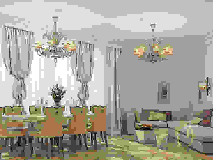 Белое золото Гостиная в классическом стиле от Premier Dekor Классический