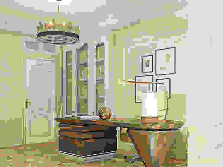 Белое золото Рабочий кабинет в классическом стиле от Premier Dekor Классический