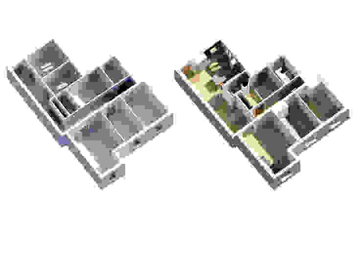 Axonometrias de ACA.Alfonso Cort Arquitecto Moderno