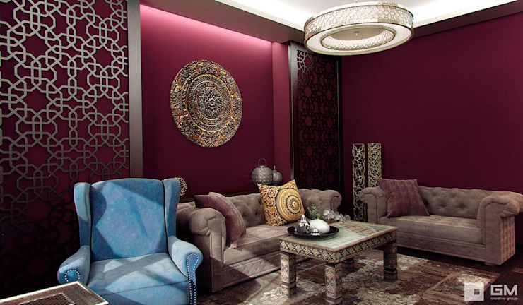 Ruang Keluarga Gaya Eklektik Oleh GM-interior Eklektik