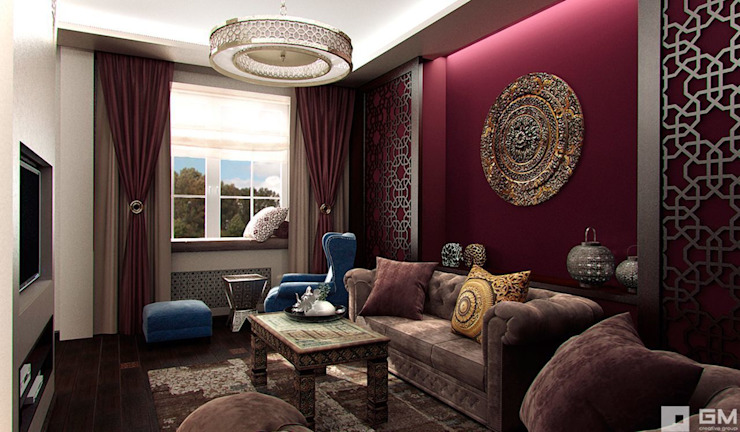 Eclectic style living room by GM-interior Eclectic