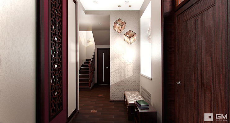 Eclectic corridor, hallway & stairs by GM-interior Eclectic