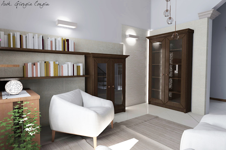 Arch. Giorgia Congiu Mediterranean corridor, hallway & stairs