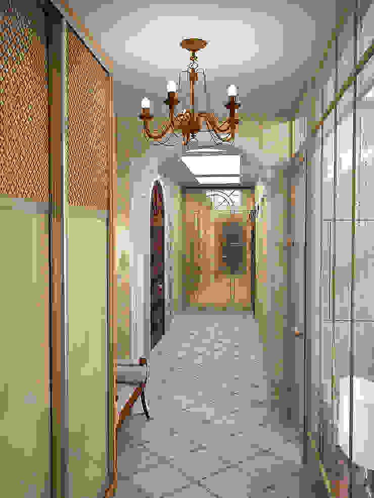 Восточные нотки Коридор, прихожая и лестница в эклектичном стиле от Проектное бюро O.Diordi Эклектичный