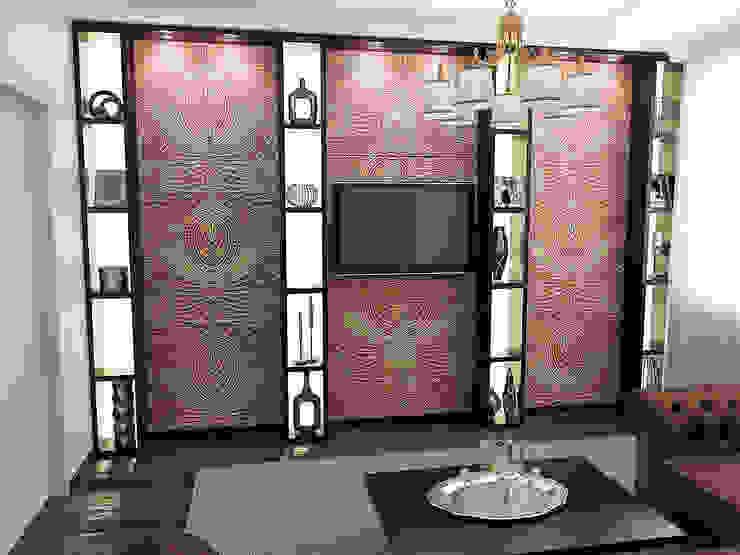 Восточные нотки Гостиные в эклектичном стиле от Проектное бюро O.Diordi Эклектичный