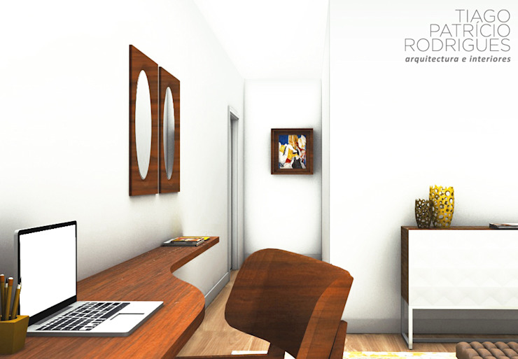 Apartamento Lumiar_Reabilitação Arquitectura + Design Interiores Quartos modernos por Tiago Patricio Rodrigues, Arquitectura e Interiores Moderno