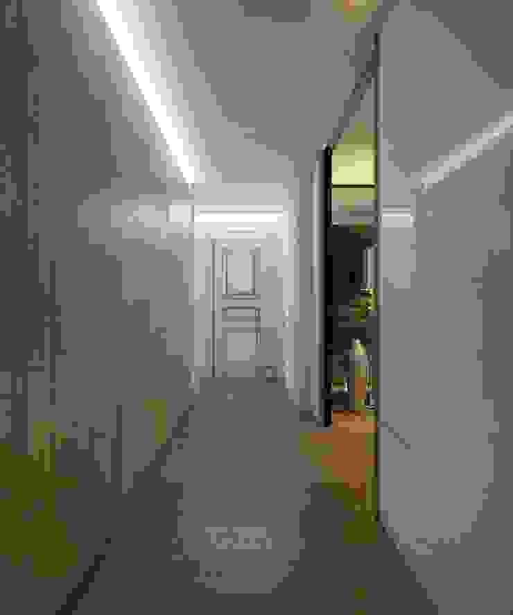 Квартира для молодой пары Коридор, прихожая и лестница в эклектичном стиле от E_interior Эклектичный