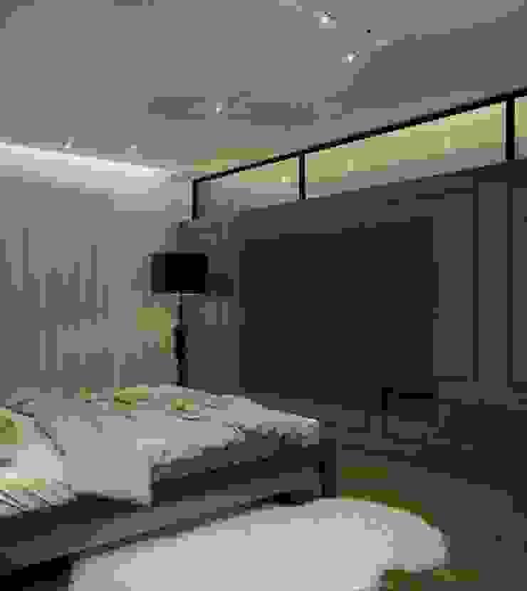 Квартира для молодой пары Спальня в стиле минимализм от E_interior Минимализм