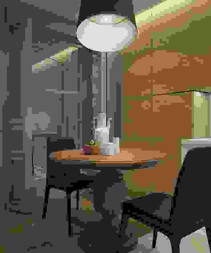 Квартира для молодой пары Кухни в эклектичном стиле от E_interior Эклектичный