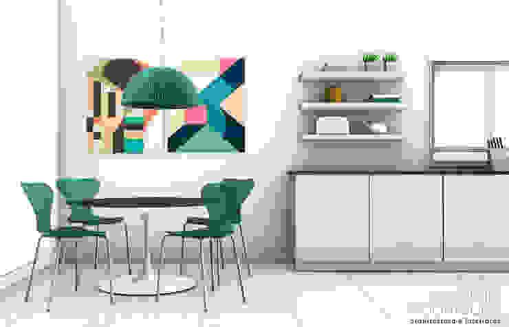 Apartamento Lumiar_Reabilitação Arquitectura + Design Interiores Cozinhas minimalistas por Tiago Patricio Rodrigues, Arquitectura e Interiores Minimalista