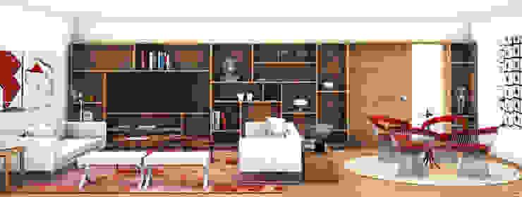 Apartamento Lumiar_Reabilitação Arquitectura + Design Interiores Salas de estar modernas por Tiago Patricio Rodrigues, Arquitectura e Interiores Moderno