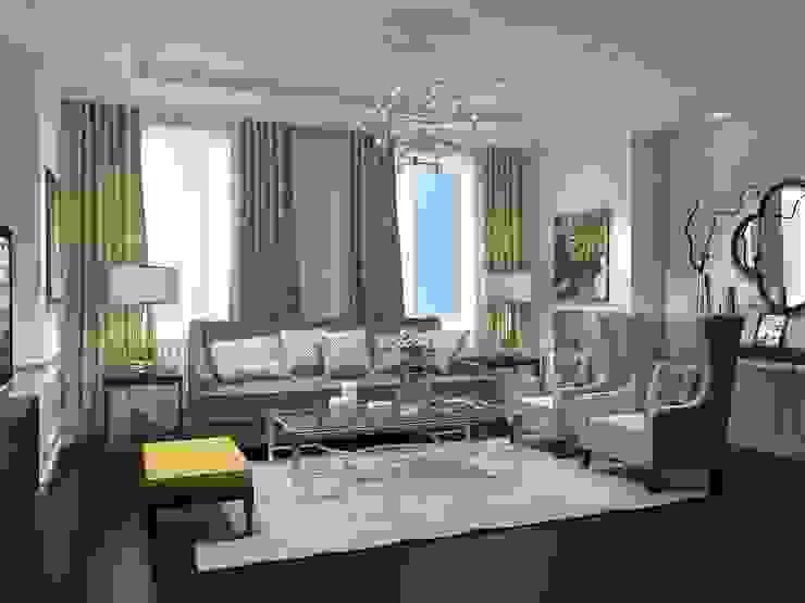 Квартира Шуваловский проспект. Гостиная в классическом стиле от Ivory Studio Классический
